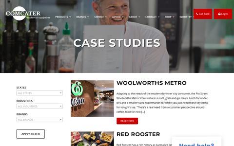 Screenshot of Case Studies Page comcater.com.au - Case Studies - Comcater - captured Nov. 5, 2018