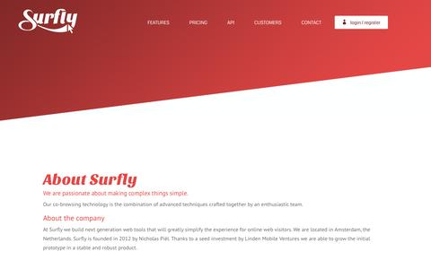 Screenshot of surfly.com - About | Surfly - captured Nov. 4, 2015