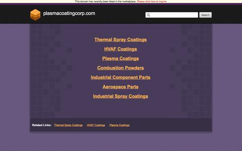 Screenshot of Home Page plasmacoatingcorp.com - Plasmacoatingcorp.com - captured July 19, 2018