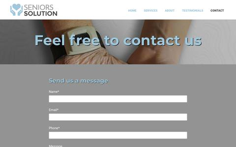 Screenshot of Contact Page seniors-solution.com - Contact | Seniors Solution | Ottawa, ON - captured Nov. 7, 2018