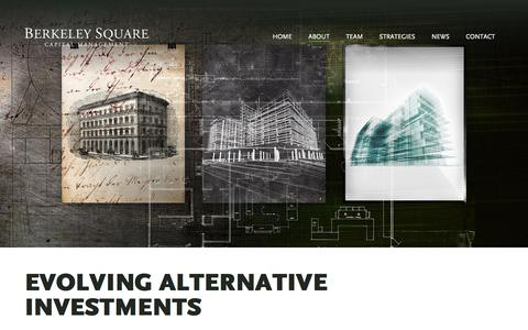 Screenshot of About Page berksq.com - Evolving Alternative Investments - captured Jan. 21, 2016