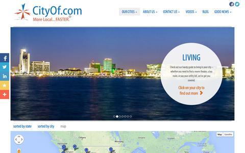 Screenshot of Maps & Directions Page cityof.com - CityOf.com Cities on the Map - captured Sept. 23, 2014