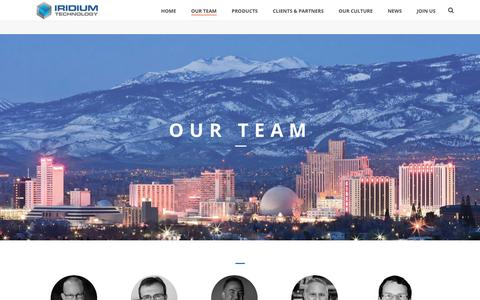 Screenshot of Team Page iridium-technology.com - Our Team - Iridium Technology - captured Feb. 21, 2019