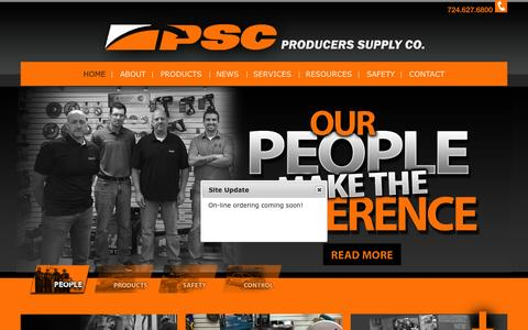 Screenshot of Home Page producerssupplyco.com - Producers Supply Co. - captured Sept. 18, 2015