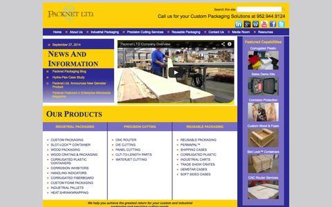 Screenshot of Home Page Menu Page packnetltd.com - Custom Packaging Solutions | Custom Packaging by Packnet - captured Sept. 27, 2014