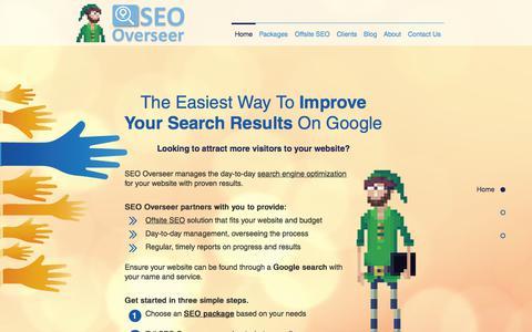Screenshot of Home Page seooverseer.com - Best Internet Marketing SEO Service Provider - captured July 8, 2018