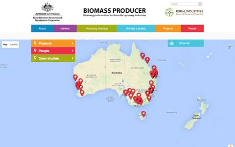 Screenshot of Team Page biomassproducer.com.au - Contacts | Biomass Producer – Bioenergy information for Australia's primary industries - captured May 1, 2016