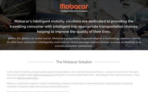 Screenshot of Home Page mobacar.com - Mobacar   Intelligent Mobility Solutions - captured Nov. 4, 2018