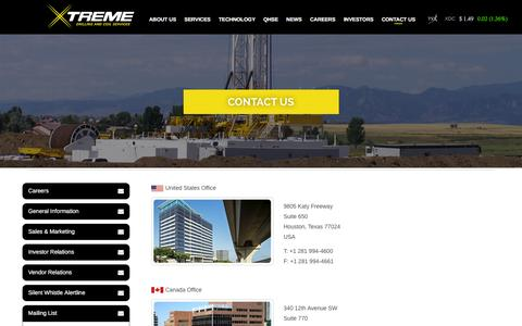 Screenshot of Contact Page xtremecoil.com - Contact us - captured Feb. 13, 2016
