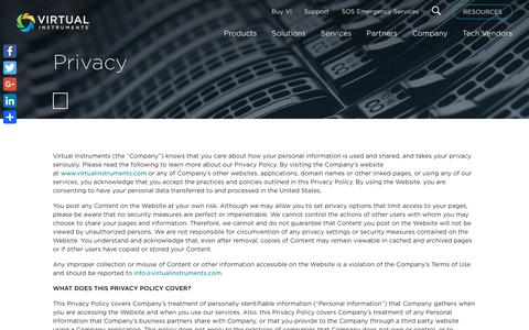 Privacy - Virtual Instruments