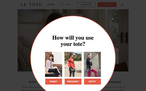 Screenshot of letote.com - How it Works - Le Tote - captured Dec. 11, 2017