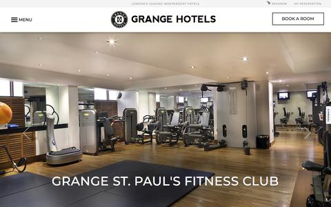 Luxury Fitness Clubs London | Grange Health Clubs