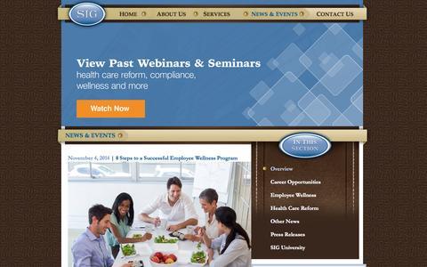 Screenshot of Blog silbs.com - Employee Benefits Blog | Silberstein Insurance Group - captured Nov. 5, 2014