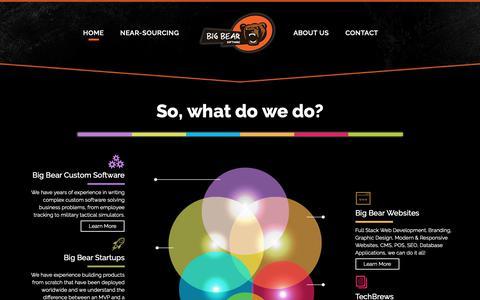 Screenshot of Home Page bigbearsoftware.ca - Big Bear Software | Custom Software Development & Design - captured Nov. 13, 2018
