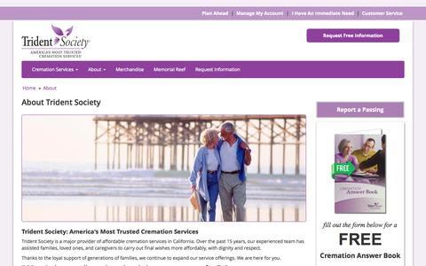 Screenshot of About Page tridentsociety.com - About Trident Society - captured Aug. 15, 2015