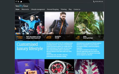 Screenshot of Home Page ten8tyfour.co.uk - Ten 8ty Four - captured Oct. 12, 2014
