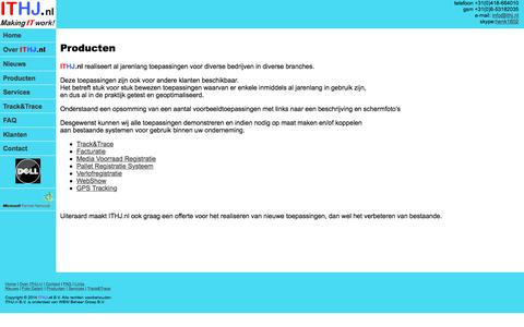 Screenshot of Products Page ithj.nl - ITHJ.nl Producten - captured Feb. 10, 2016