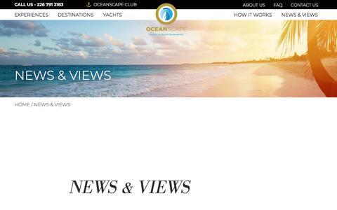 Screenshot of Blog oceanscapeyachts.com - News & Views - OceanScapeYachts - captured Sept. 20, 2018