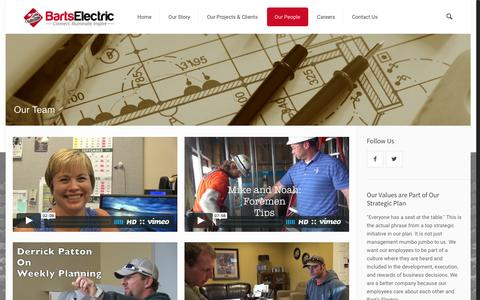 Screenshot of Team Page bartselectric.com - Our Team | Barts Electric - captured Dec. 30, 2015