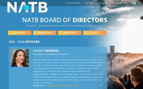 Screenshot of Team Page natb.org - Our People | The NATB - Tickets You Can Trust - captured Oct. 18, 2018