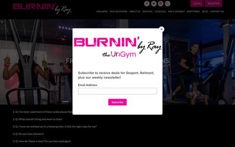 Screenshot of FAQ Page burninbyray.com - Frequently Asked Questions | BURNIN' by Ray | Belmont & Boston - captured Nov. 2, 2018