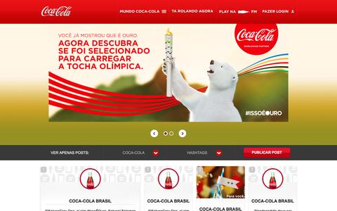 Screenshot of Home Page cocacola.com.br - Coca-Cola - Abra a felicidade - captured Jan. 13, 2016