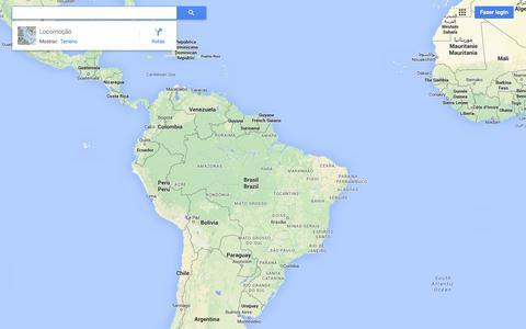 Screenshot of Maps & Directions Page google.com.br - Google Maps - captured Oct. 28, 2014
