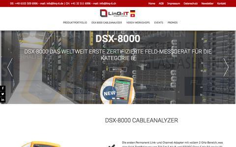 Screenshot of Home Page linq-it.de - LinQ-IT ... We make IT perform! - - captured April 4, 2017