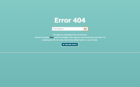Screenshot of Team Page prolandscape.com.my - Page not found. Error 404 - Prolandscape Structure Sdn Bhd - captured Nov. 12, 2016