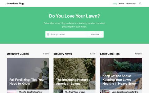 Screenshot of Blog lawnlove.com - Lawn Love Blog - captured Feb. 10, 2019