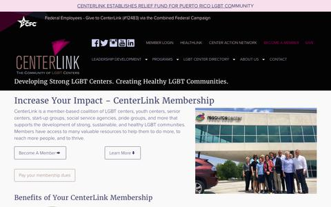 Screenshot of Signup Page lgbtcenters.org - Members of CenterLink, the Community of LGBT Centers, have access to many resources to help them be strong and healthy. - captured Sept. 27, 2018