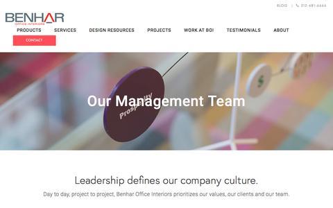 Screenshot of Team Page benharoffice.com - Executive Management Team   Benhar Office Interiors - captured Nov. 22, 2016