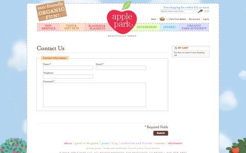 Screenshot of Contact Page applepark.com - Contact Us - captured Sept. 30, 2014