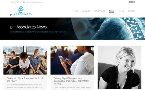 Screenshot of Press Page phassociates.com - pH Associates   pH Associates News - pH Associates - captured Sept. 30, 2018