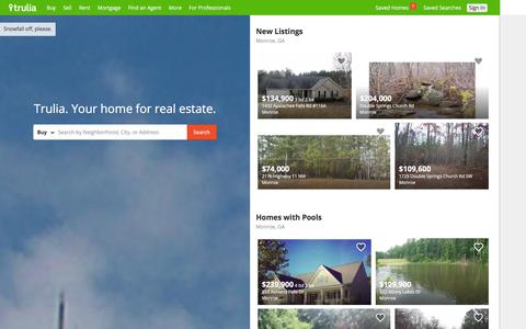 Screenshot of Home Page trulia.com - Trulia: Real Estate Listings, Homes For Sale, Housing Data - captured Dec. 15, 2015