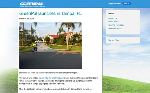 Screenshot of Blog yourgreenpal.com - GreenPal | Lawn Care and Landscaping Blog - captured Oct. 30, 2014
