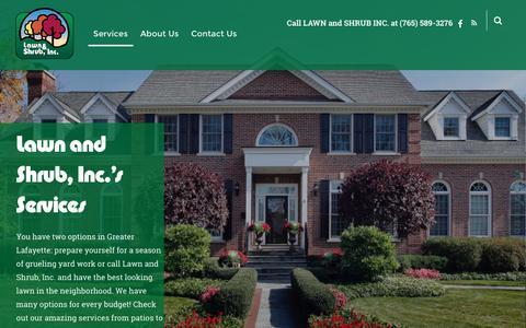 Screenshot of Services Page lawnandshrub.com - Services – Lawn and Shrub Inc. - captured Nov. 1, 2016