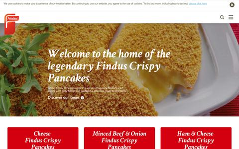 Screenshot of Home Page findus.co.uk - Findus - Discover Our Frozen Food Range - captured Oct. 30, 2018