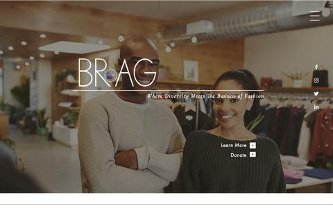 Screenshot of Home Page bragusa.org - BRAG - captured Nov. 13, 2018