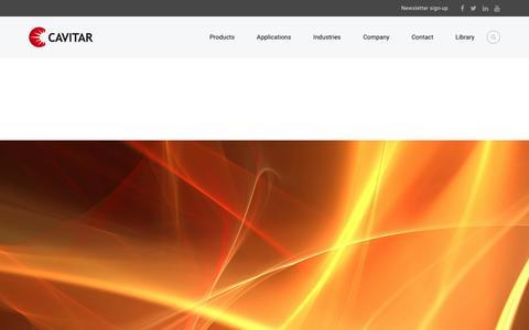 Screenshot of Signup Page cavitar.com - Newsletter sign-up - Cavitar Ltd - See What You Have Missed - captured July 18, 2017