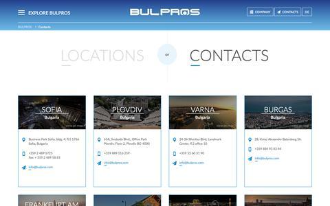 Screenshot of Locations Page bulpros.com - Bulpros Consulting - captured Dec. 9, 2018