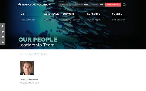 Screenshot of Team Page aqua.org - National Aquarium | Our People - captured May 22, 2018