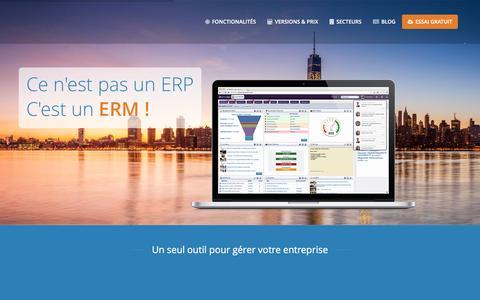 Screenshot of Home Page erm212.com - ERM212, gestion commerciale et CRM dans le Cloud   - captured Feb. 7, 2016