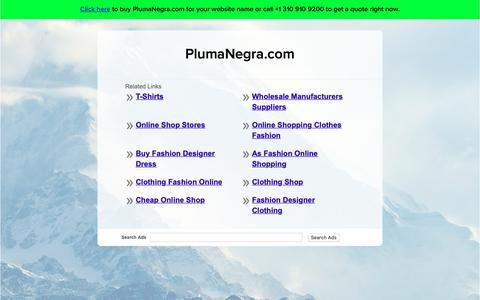 Screenshot of Home Page plumanegra.com - PlumaNegra.com - captured Sept. 26, 2018