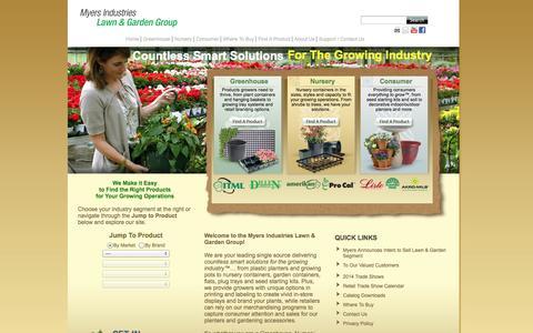 Screenshot of Home Page myerslawnandgarden.com - Myers Lawn & Garden - index - captured Oct. 7, 2014