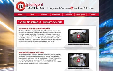 Screenshot of Case Studies Page intelligent-telematics.ie - Case Studies & Testimonials - captured Oct. 4, 2014