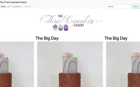Screenshot of Home Page lamargo.co.uk - Home - The Three Cupcakes Cakery - captured Sept. 26, 2018
