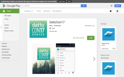 DattoCon17 - Android Apps on Google Play