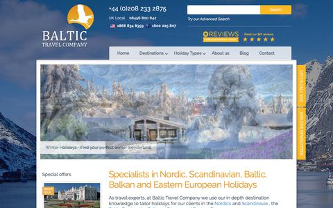 Screenshot of Home Page baltictravelcompany.com - Baltic tours & cruises | Scandinavia & Eastern European holidays | Baltic Travel Company - captured Aug. 1, 2018