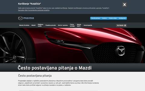 Screenshot of FAQ Page mazda.hr - FAQ - captured Nov. 24, 2016